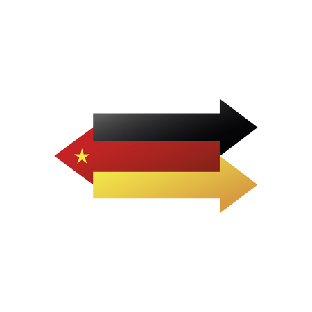 China Germany interaction, exchange and delivery Vector illustration. 向量圖像