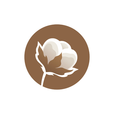 Cotton flower logo template Vector illustration. 向量圖像