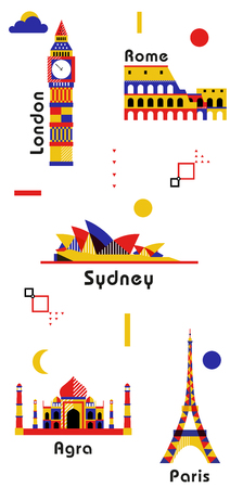 Colorful geometric landmarks