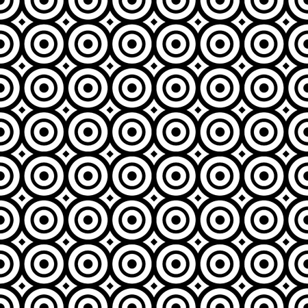 Seamless pattern with black and white circles 向量圖像