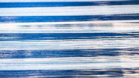 Abstract blue and white silk stripes pattern for fabrics background Stock Photo