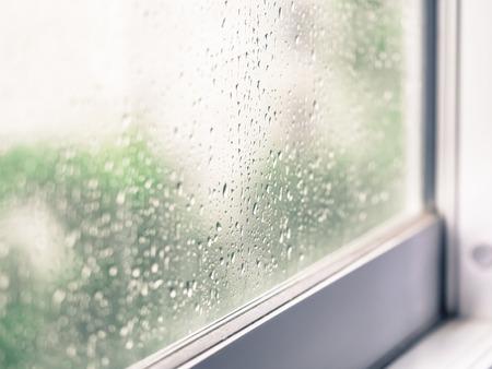 窓からすに雨のクローズ アップが値下がりしました 写真素材