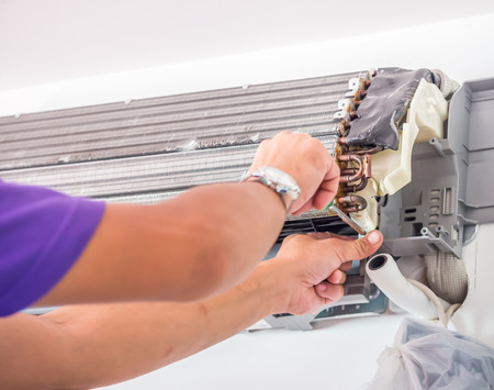 Air conditioner cleaning process and service
