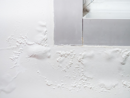 Paint blistering and peeling problems on the wall