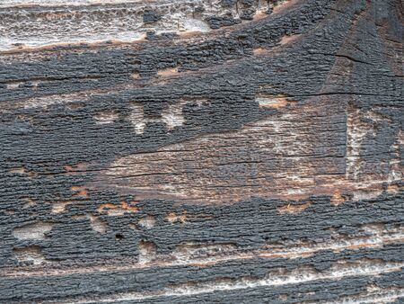 Abstract and closeup of old cracked wooden texture, pattern and background.