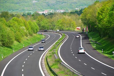 highway traffic: Traffic jam on German highway