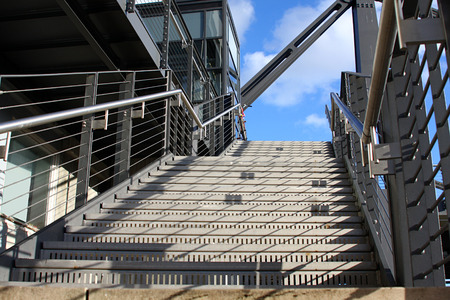 steps and staircases: Stairs in the outdoor under the sky, in the city