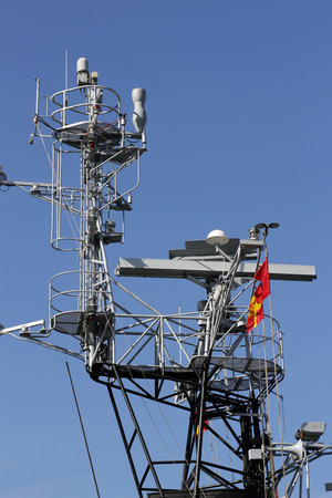 telecoms: Mobile Phone Telecommunication Radio Antenna Tower. Telecoms Cell Phone Tower.