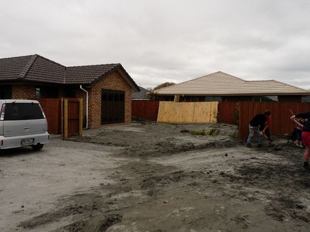 Christchurch, New Zealand, September 9 2010: Liquefaction Damage from Earthquake in Bexley neighborhood