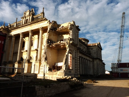 earthquakes: Earthquake damaged Cathedral of the Blessed Sacrament in Christchurch