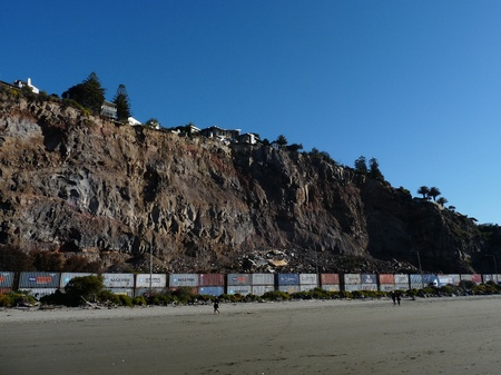 Earthquake rock fall out in Redcliffs, Christchurch, New Zealand