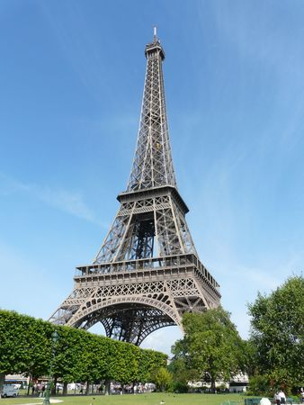 eiffel Tower in Paris, France Stock Photo