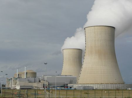 power: Cooling towers for a nuclear power station in France