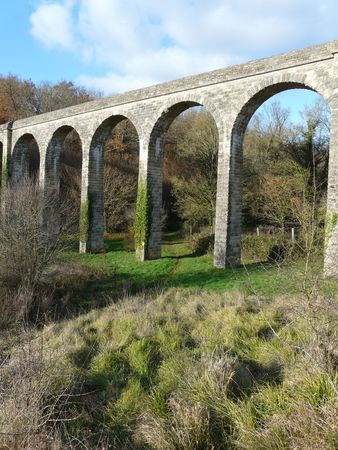 17th: Old 17th century Aqueduct near Poitiers in France Stock Photo