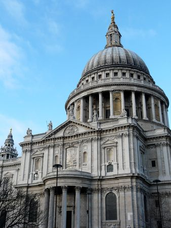 st pauls: Exterior of St. Pauls Cathedral in London United Kingdom