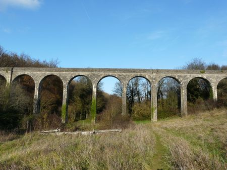 17th: Old 17th Century Aqueduct near Poitiers in France