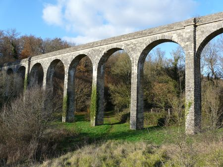 Old 17th century Aqueduct near Poitiers in France Stock Photo