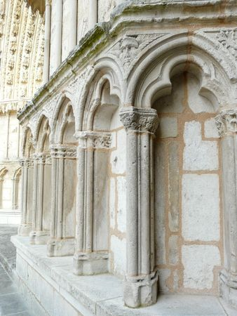 Fa�ade of the Cathedrale Saint Pierre or Saint Peter in Poitiers, France