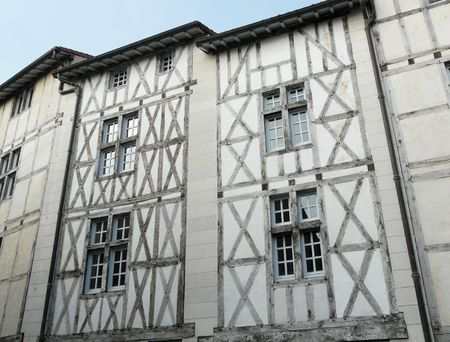 Medieval half-timbered houses in Poitiers, France Stock Photo