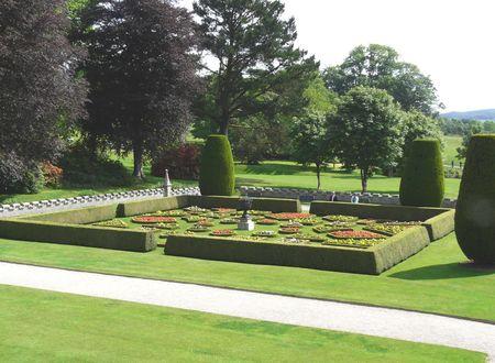 lanhydrock: Gardens at Lanhydrock Castle near Bodmin in Cornwall England