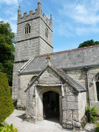 bodmin: Church in the grounds of Lanhydrock Castle near Bodmin in Cornwall England
