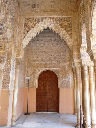 Archways at the Alhambra in Granada, Spain