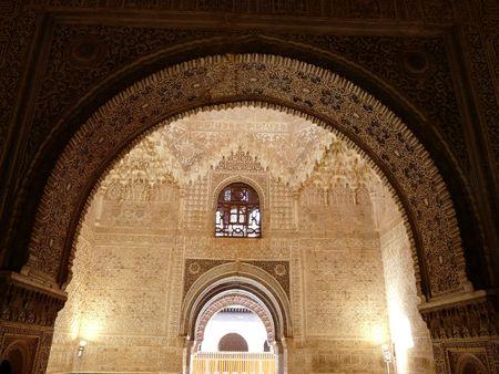Archways in the Palacio de Generalife at the Alhambra in Granada, Spain
