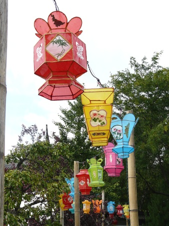 Chinese Lanterns at the Botanic Gardens in Montreal, Canada photo