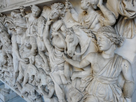 Old Roman marble sculpture