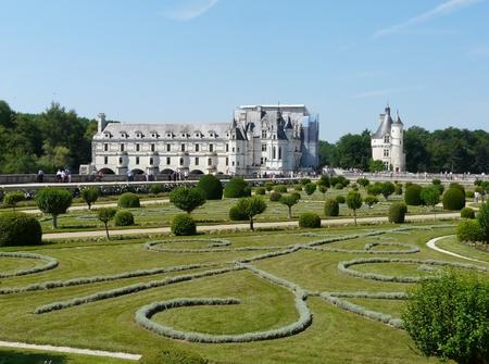 Diane de Poitiers Gardens at the Chateau de Chenonceau, near Chenonceaux in France