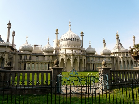 Brighton Pavilion, in England, built on the sea-front by King George IV