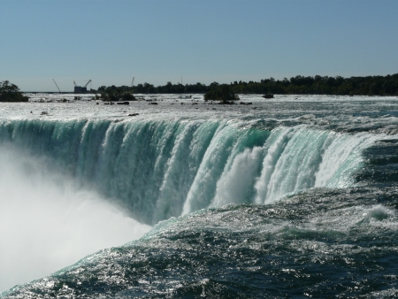 horseshoe falls: The Horseshoe Falls at Niagara Falls from the Canadian side of the falls Stock Photo