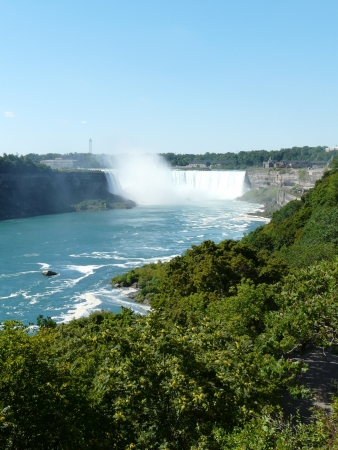 The Horseshoe Falls at Niagara Falls from the Canadian side of the falls Stock Photo