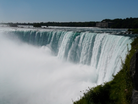 Niagara Falls, Canada, the Horseshoe Falls at Niagara Falls from the Canadian side of the falls photo