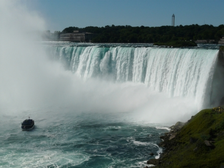 horseshoe falls: Niagara Falls, Canada, the Horseshoe Falls at Niagara Falls from the Canadian side of the falls