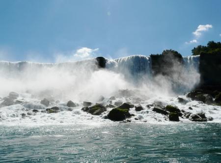 Niagara Falls, Canada, the American Falls at Niagara Falls from the Canadian side of the falls