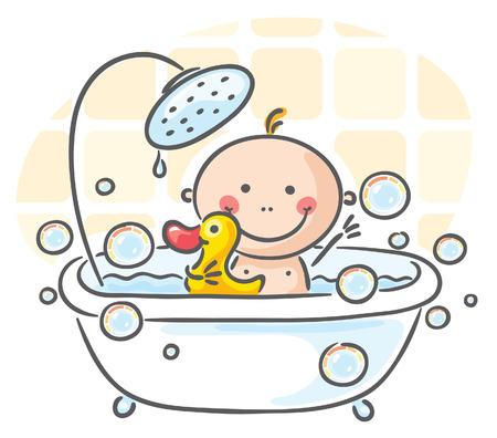 baÑo: Bebé en la bañera