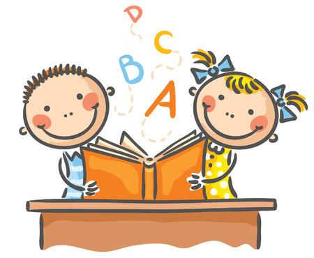 Děti čtení knihy spolu