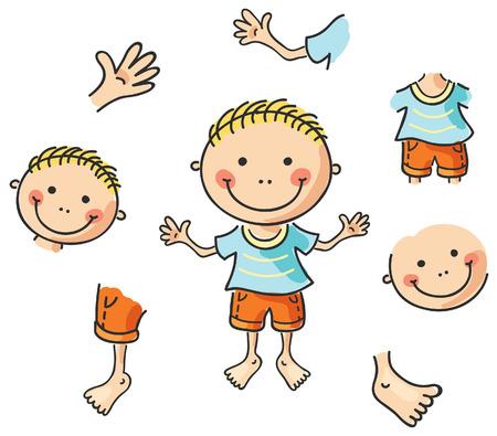 Cartoon parties du corps? pas de gradients Banque d'images - 31728524