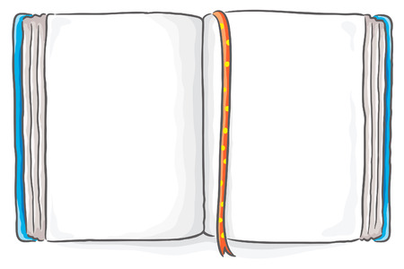 copy book: Open book with a copy space Illustration