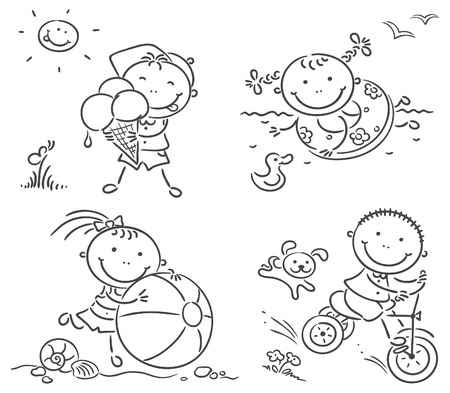 tricycle: Summer happy kids activities outdoors