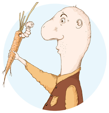agronomist: A man is surprised to find a worm in a carrot