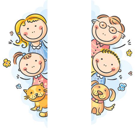 Familie Rahmen / Grenze mit einer Kopie Raum