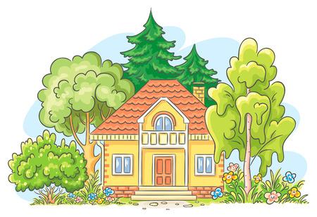 cottage garden: Countryside house with a garden