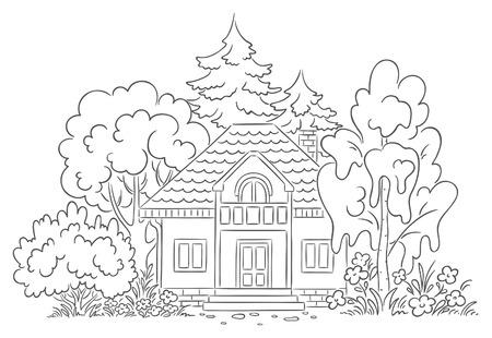 Countryside house with a garden Vector
