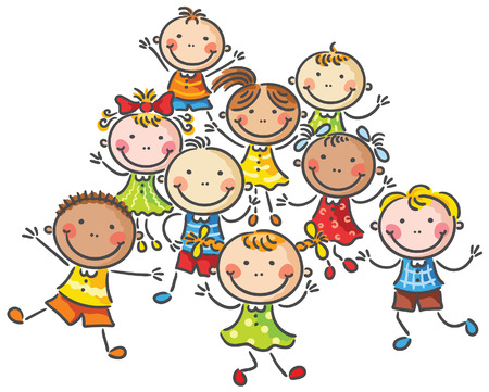 Many happy kids, no gradients