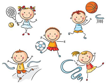 going in: Felices los ni�os que van para el deporte