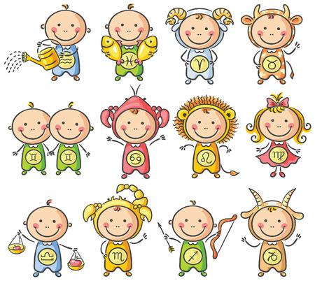Zodiac sighns como niños pequeños