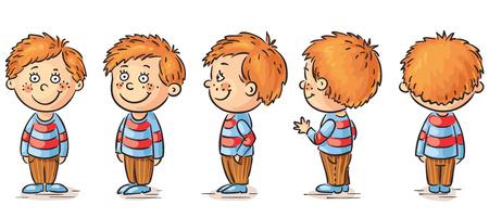 niño: El niño pequeño personaje de dibujos animados de respuesta
