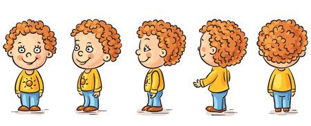 Happy baby cartoon character turnaround